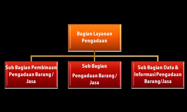 Struktur organisasi Bagian Layanan Pengadaan
