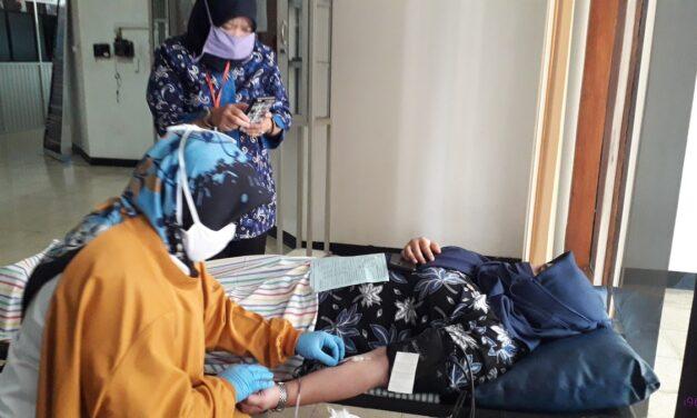 Pelayanan Donor Darah Di Setda Purbalingga, Sumbang 17 Kantong Darah